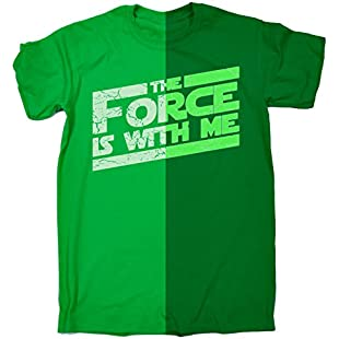 Fonfella Boy's Girl's GLOW IN THE DARK THE FORCE IS WITH ME (M-Age-7-8 - KELLY GREEN) T SHIRT