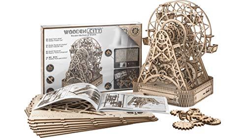 WOODEN.CITY 3D-Holzfunktionsbausätze Ferris Wheel by 3D-Puzzle Zusammenbau ohne Klebstoff