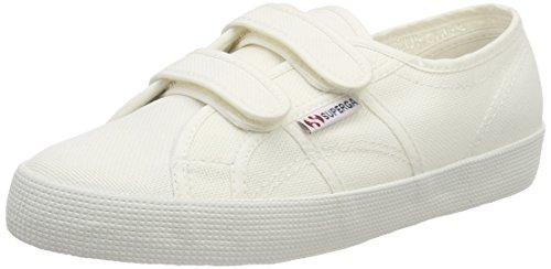 Superga Unisex-Kinder 2750-cotbumpstrapj Sneaker, Weiß (White), 23 EU