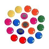 Imanes de oficina, 24 imanes redondos coloridos para...