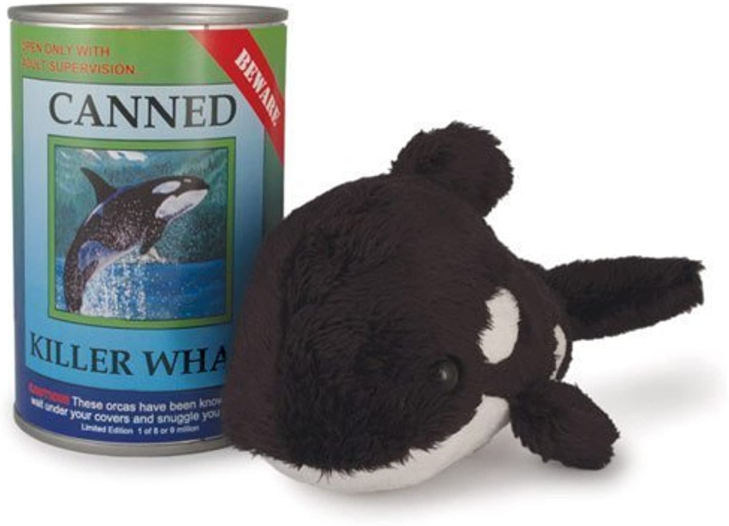 Canned Critters Stuffed Animal  Killer Whale 6 by Canned Critters