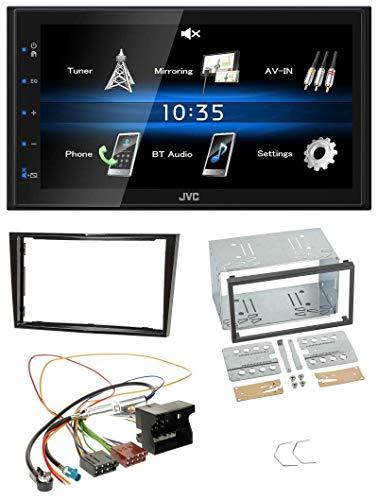 caraudio24 JVC KW-M24BT 2DIN Bluetooth MP3 AUX USB Autoradio für Opel Astra H Corsa D Zafira B Klavierlack
