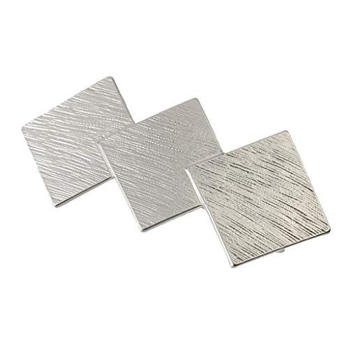 Baoblaze Automatische Haarspange Federclip, geometrische Haarspangen, Haarnadeln für Frauen - Silber