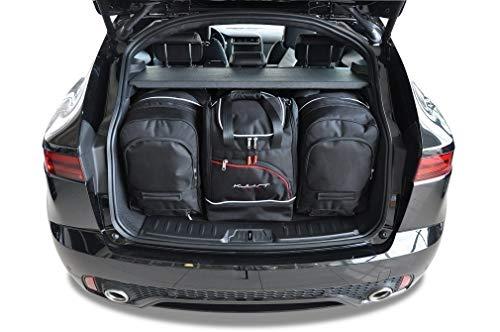 KJUST Dedizierte Reisetaschen 4 STK Set kompatibel mit Jaguar E-PACE I 2017 -