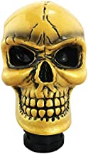 Abfer Gear Shift Knob Skull Shifting Car Handle Shifter Stick Knobs Fit Manual Automatic Transmission Cars, Gold