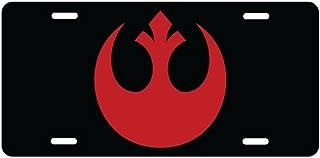 Panda Rebel Alliance Red Logo Aluminum License Plate license frame custom Metal License Plate for Car Novelty license plate 12 inch X 6 inch