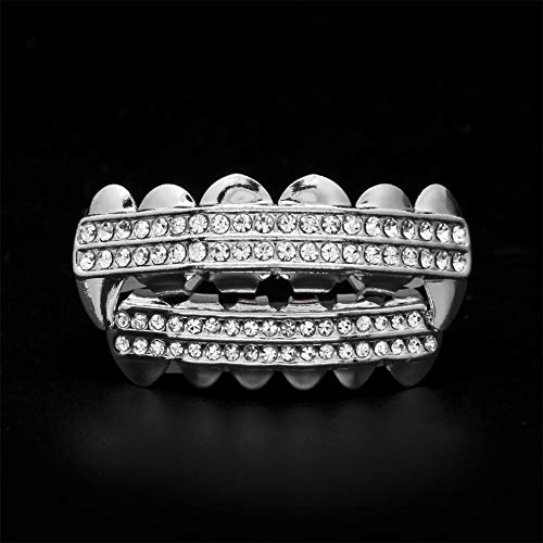 Rabusion Health For Fashion Cool 24k Plated Teeth Mouth Grills Bling Hip Hop Plated Teeth