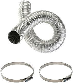 Conducto flexible de manguera, hecho de aluminio, incluye
