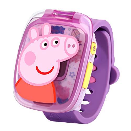 VTech- Peppa Pig Juguete Reloj, Color morado (3480-526022)