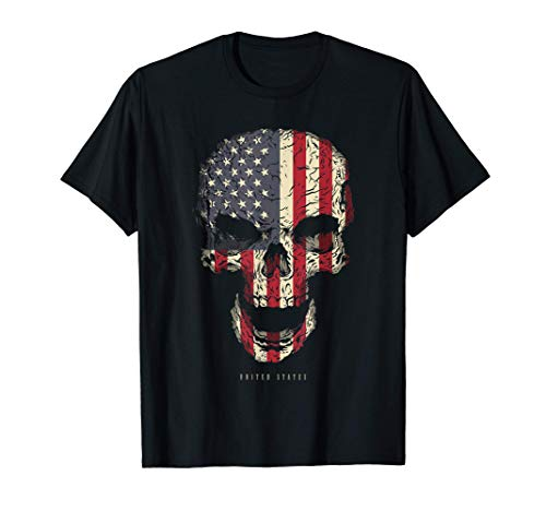 Calavera con Bandera de Estados Unidos USA Skull Camiseta
