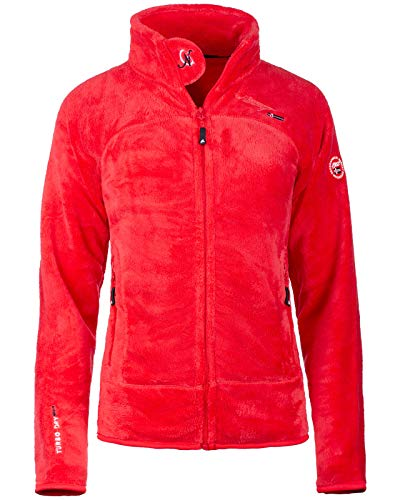 Geographical Norway Bans Production - Chaqueta de forro polar para mujer rojo L