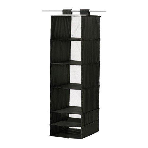 IKEA SKUBB Aufbewahrung in schwarz; 6 Fächer