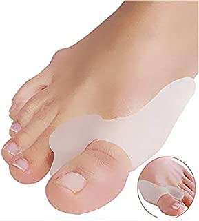DUORUI 2 Pairs Gel Big Toe Bunion Guards & Toe Spreaders - (for Pain Relief from Crooked Toes, Pressure, and Hallux Bunions)