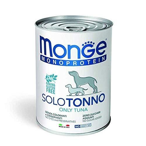 Monge Monoproteico SOLO TONNO Alimento umido per Cani 12 X 400gr