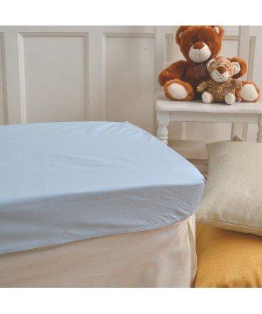 10XDIEZ Sabanas bajeras Cuna algodón Azul - Medidas sabanas bebé - Cuna (60x120cm)