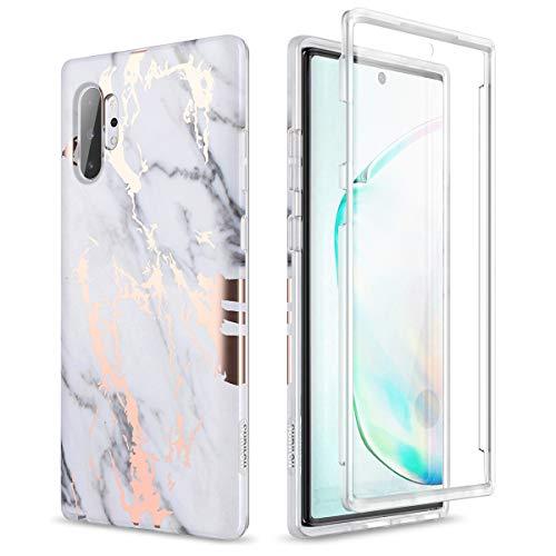 Capa Suritch para Samsung Galaxy Note 10 Plus, [película embutida], robusta, estampa de mármore natural, resistente e à prova de impacto, 6,8 polegadas