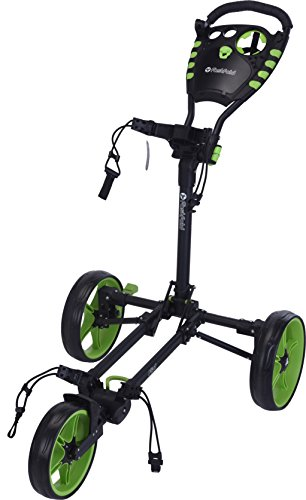 Green Grass Golf Fast Fold Flat Fold Trolley Silver/Black - *