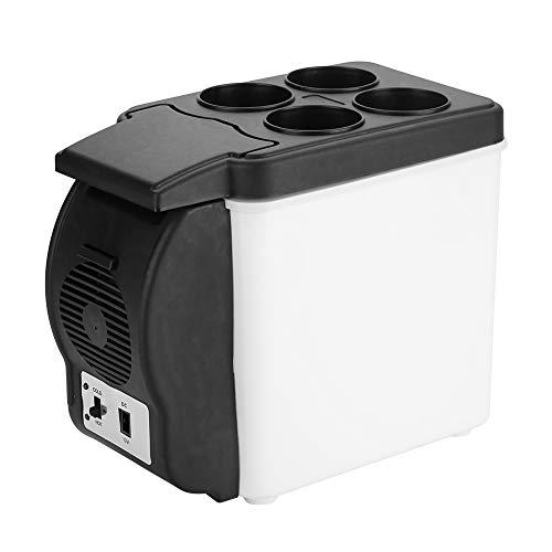 Changor Refrigerador de coche, 6 L, ideal para refrigerador, mini nevera, cuidado de la piel, hecho de abdominales (negro+blanco)