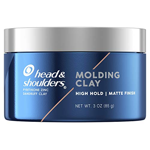 Head & Shoulders Anti-Dandruff Molding Hair Clay for Men, Strong Hold, Matte Finish, 3 Oz