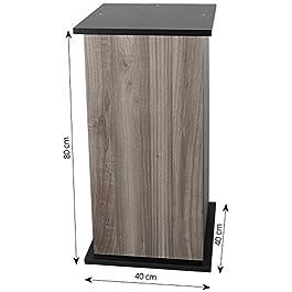 sera 32393 Floor Cabinet 80 cm with Door Black for Scaper Cube Aquarium