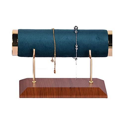SODIAL Soporte del Reloj, Soporte de ExhibicióN de Franela de Cuero Creativo para Pulsera, Accesorios de ExhibicióN de la Joya, Azul Marino, úNico