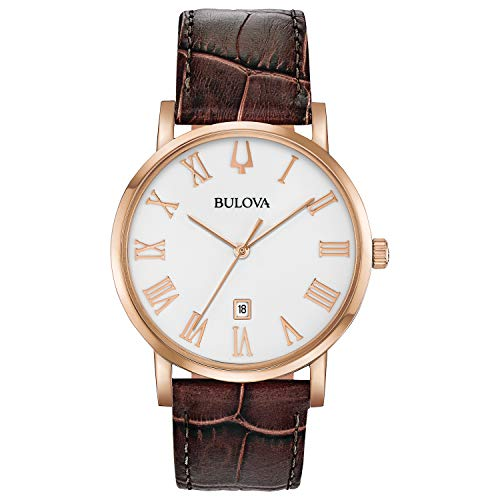 Bulova Men's 97B184 Brown Leather Strap Watch