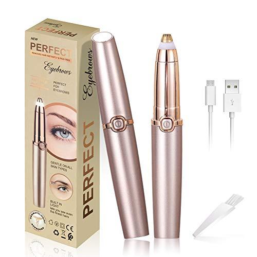 clasificación y comparación Depiladora de cejas, depiladora facial eléctrica para mujeres, corta nariz / orejas, luces LED … para casa