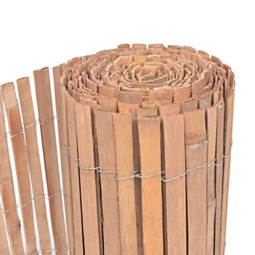 WENXIA pantalla de jardín de madera de bambú cercado valla de privacidad jardín balcón terraza 125x400cm