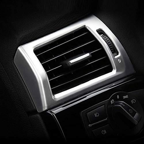 ACCEMOD - Embellecedor de marco de coche para X3 X4 F25 F26 2013-2017 de salida de aire acondicionado lateral, calcomanías para accesorios de coche LHD ABS cromado mate