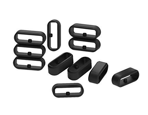 Tencloud Befestigungsringe kompatibel mit Fitbit Versa 2 Verschlüssen, Sicherheitsschlaufen-Halter, fester, rutschfester Ersatz-Silikonringverbinder für Versa 3/Versa 2/Versa/Versa Lite Smartwatch