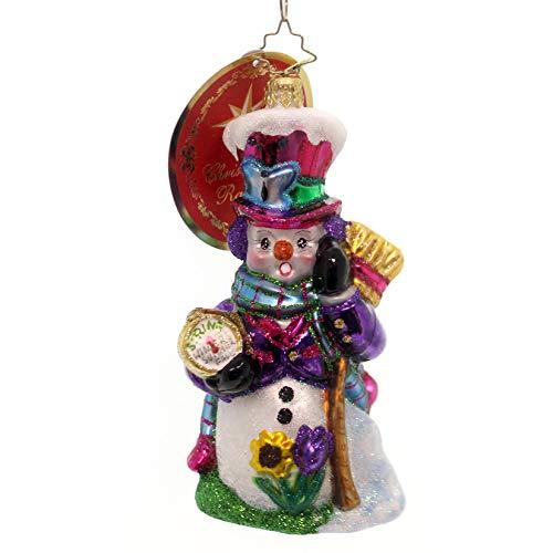 Christopher Radko Time for Spring, Snowman! Christmas Ornament