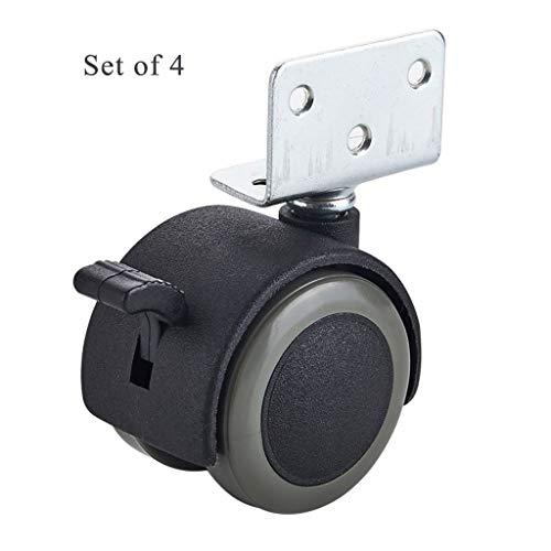 LXESWM 4 Roulette pivotante Roue de Remplacement polyuréthane Roues Chariot roulettes Roues Roulette de Meuble, protégez Votre Tapis/Bois (Pas Scratches/Bruit) de roulettes