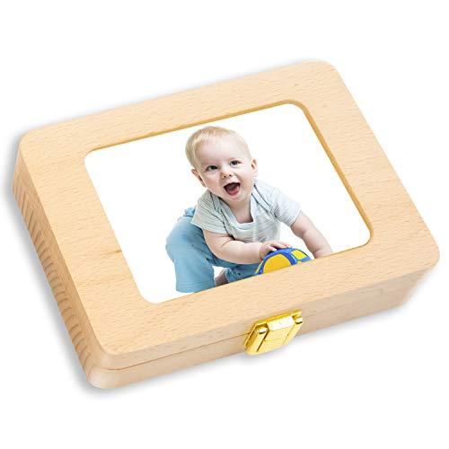 milchzähne box, zaMerpin hnbox zahndose milchzahndose zahndöschen für kinder milchzahn box handgefertigt mit Holz(englische Version)