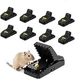 Awroutdoor 8 PCS Piège à Souris, Réutilisable Piège à Rats avec Ressort Puissant et Sensible Contrôle Our Intérieur Cuisine Extérieur Jardin, Facile à Utiliser