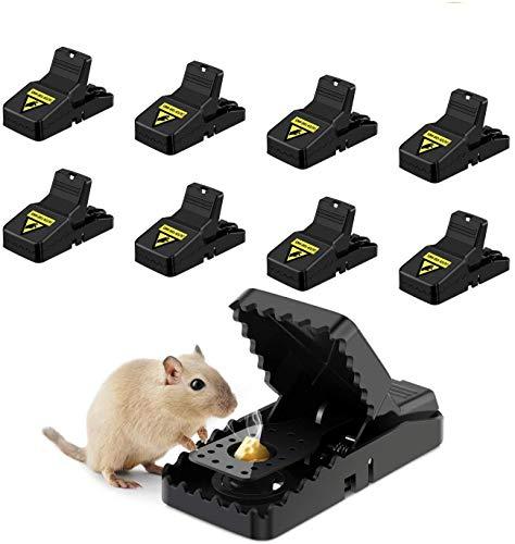 Awroutdoor 8 PCS Trampa Ratones, Trampas para Ratas, Reutilizable Trampas para Ratones Alta sensibilidad Respuesta rápida Seguro Efectivo, Fácil de Establecer Control, Seguro, Potente