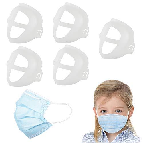 BeiYoYo - Soporte para máscara 3D para labios, soporte interno, marco para la nariz y respiración sin problemas, accesorios para mascarilla facial (5 unidades) (niños pequeños)