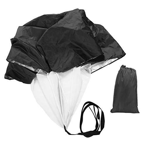 VGEBY Geschwindigkeitstraining Fallschirm, Sport Fußball Drag Running Geschwindigkeitstraining Rutsche Widerstand Fallschirm Krafttraining Regenschirm(schwarz)