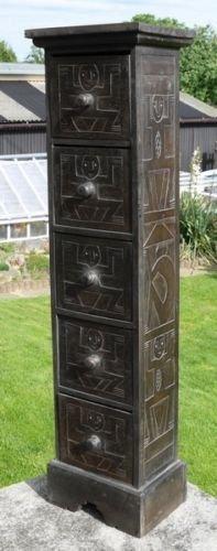 100 cm kast kruiden primitief Art Afrika commode sideboard asmat kast 13