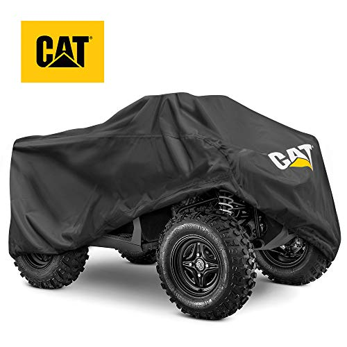 "Caterpillar MudShield All Weather Waterproof Outdoor ATV Cover for Ultimate Protection Heavy Duty XXL 102"""" x 48"""" x 44"""""", Black"
