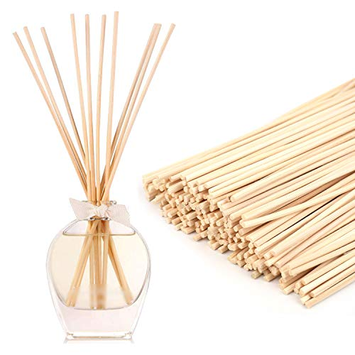 Yesland 300 Pack Wood Rattan Reed Sticks, Natural Reed Diffuser Sticks - 10' X 3mm - Replacement Essential Oil Aroma Diffuser Sticks, Ideal for Home Fragrance