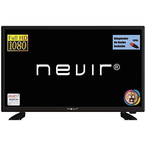 Nevir TV Led NVR-7708-22FHD2-N, 22 Pulgadas, Full HD, Adaptador 12V Coche
