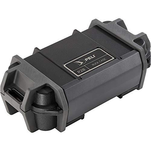 PELI R20 Ruck Schutzbehälter, Schlagfester Schutz für kleine Gebrauchsgegenstände bei der Arbeit oder Abenteuern im Freien, IP68 Wasserdicht und staubdicht, 0,76L Fassungsvermögen, Farbe: Schwarz