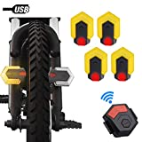 Deeabo Bike Tail Light, Bike Turn Signals Front and Rear Safety Warning Light with Remote Control, USB...