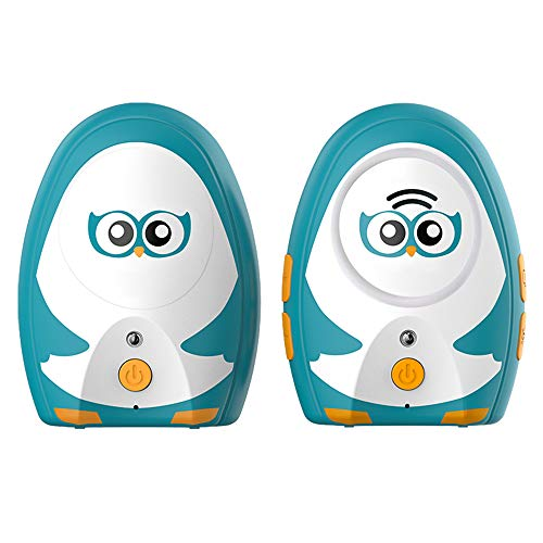 TimeFlys Audio Baby Monitor Focus OL Digital Baby Monitor Audio Cute Rechargeable Battery USB Connection Paging Two Way Talk 1000 Feet Range Night Light