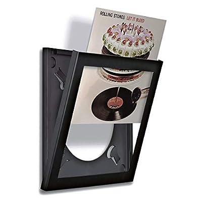 Play & Display Vinyl Record Display Frame, Displays Albums Covers, 12.5x12.5, Black by