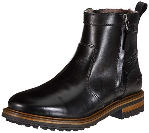 FRETZ Valerio męskie buty wsuwane, czarny - Schwarz Noir 51-47 EU