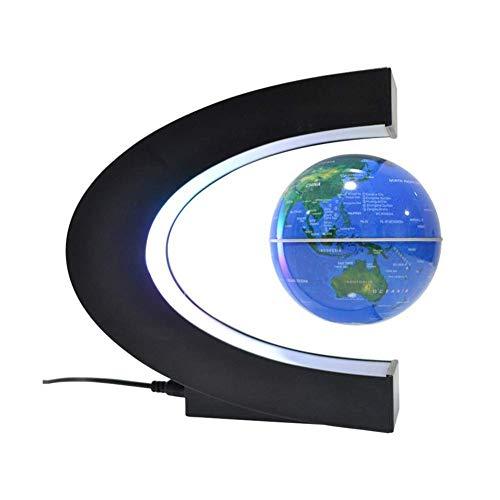 Globos para crianças, levitação magnética Globe Maglev World Map C em forma de suspensão magnética Globo mundial com luz LED, melhor aniversário Natal