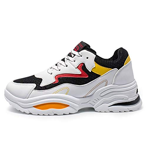 BAN SHUI JU MINSU GUANLI Chaussure Sport Respirante Respirante Légère for Hommes (Color : Black, Size : 44)