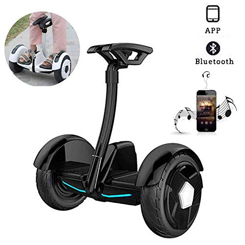 """Electric Scooter,10"""" Self Balancing Scooter Two Wheel Smart Self Balance Scooter 700W Motor with Led Flash Wheels, Built in Bluetooth Speakers Best Gifts for Kids,Black,White JIAJIAFUDR"""
