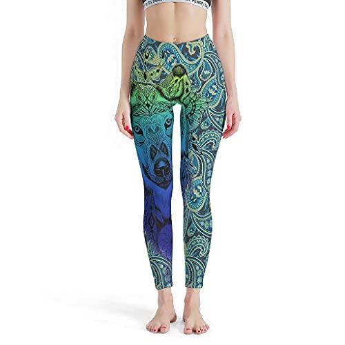 Chartiny Pantalones de yoga elásticos suaves para gimnasio